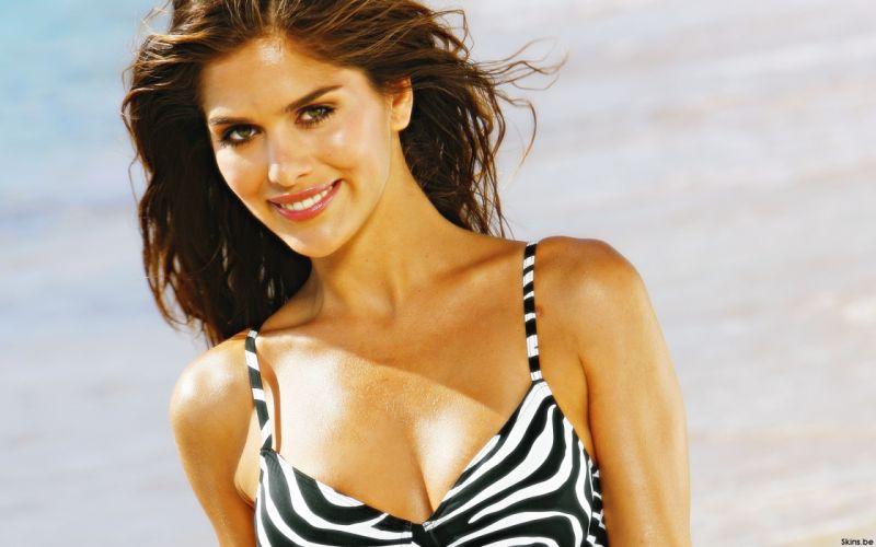 Anahi Gonzales models brunettes women females girls sexy babes swimwear swimsuit face eyes t wallpaper