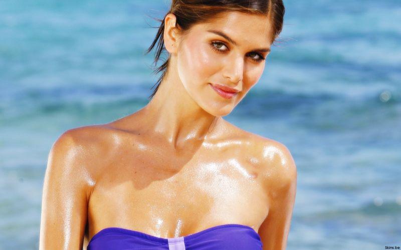 Anahi Gonzales models brunettes women females girls sexy babes swimwear swimsuit face eyes wallpaper