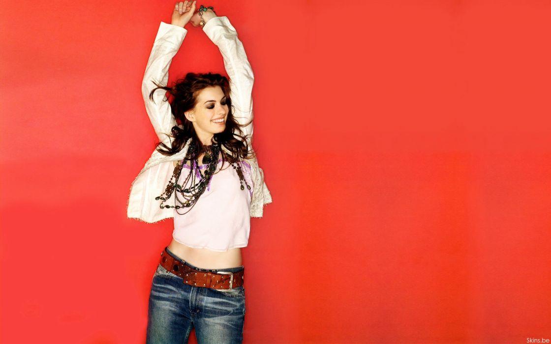 Anne Hathaway actress women females girls sexy babes wallpaper