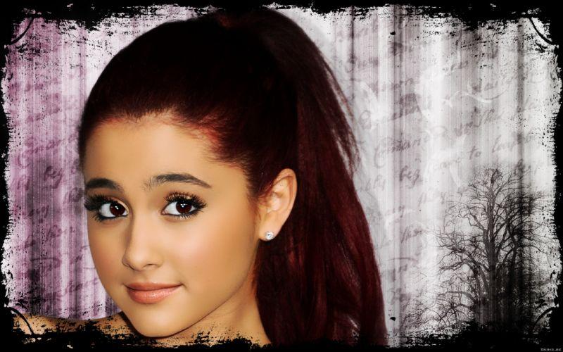 Ariana Grande singer music actress women females girls sexy babes redheads face eyes r wallpaper