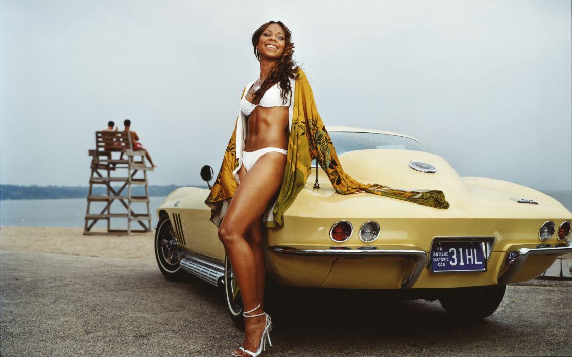 Ashanti singer musician women females girls sexy babes bikini swinwear swimsuit corvette wallpaper