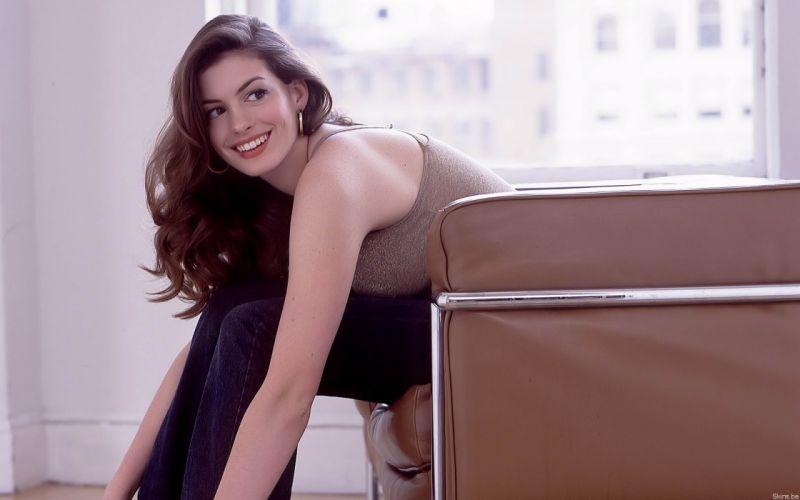 Anne Hathaway actress women females girls sexy babes face eyes x wallpaper