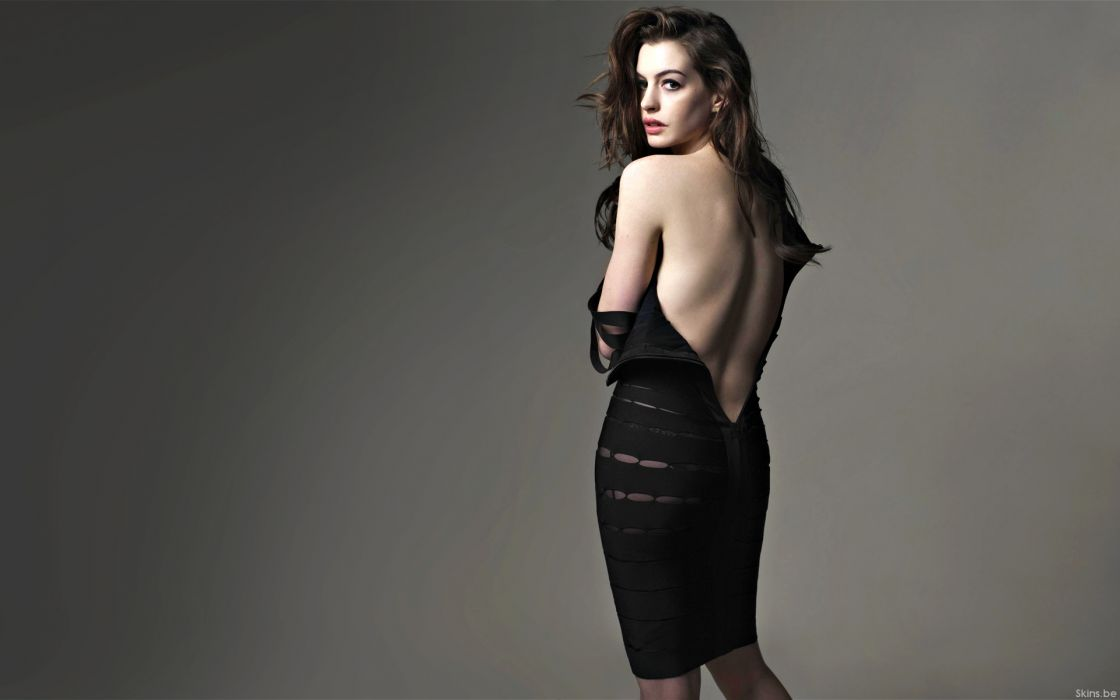 Anne Hathaway actress women females girls sexy babes face eyes       z wallpaper