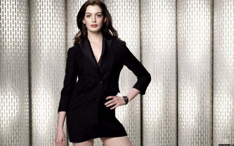 Anne Hathaway actress women females girls sexy babes face eyes cleavage legs d wallpaper