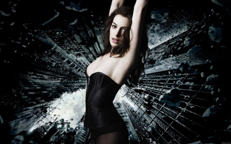 Anne Hathaway actress women females girls sexy babes face eyes wallpaper