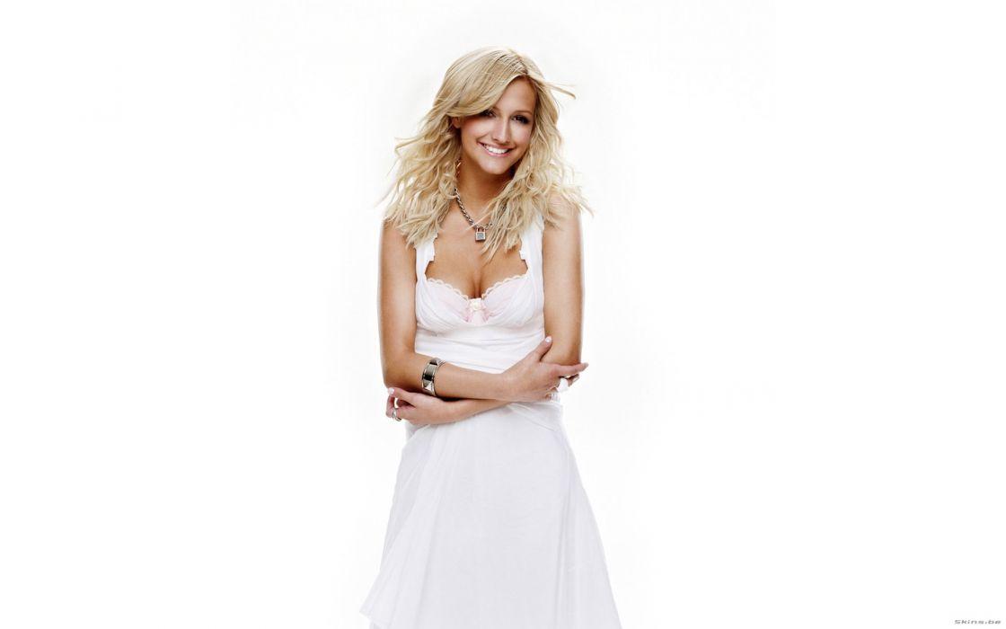 Ashlee Simpson singer musician blondes women females girls sexy babes cleavage wallpaper