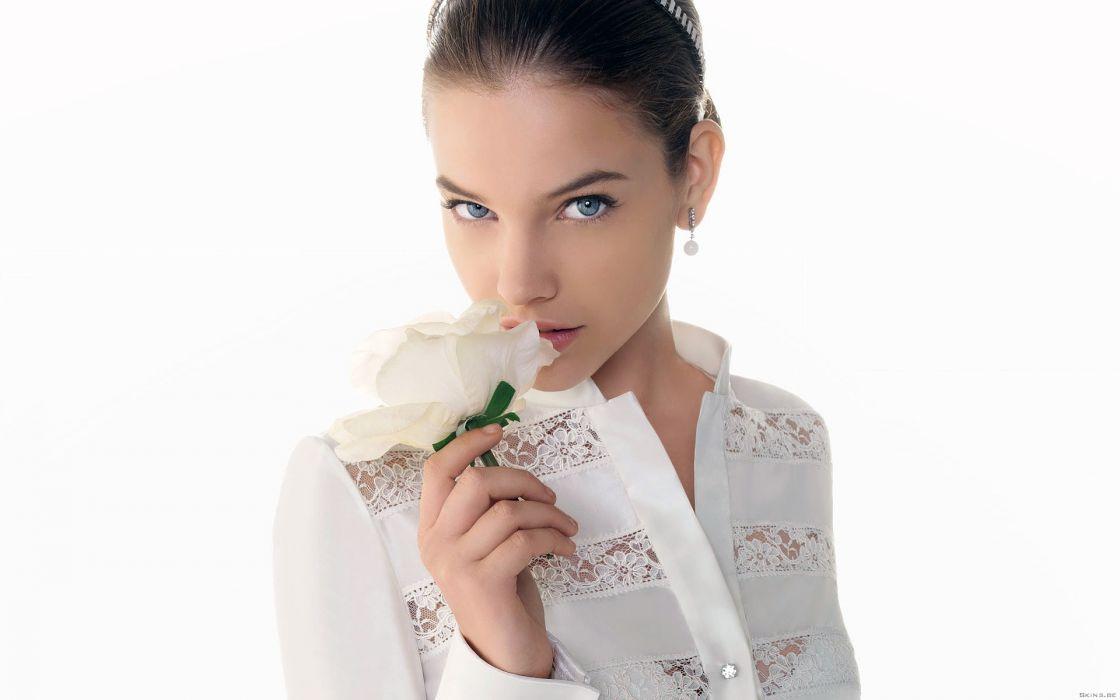 Barbara Alvin models women females girls sexy babes face eyes wallpaper