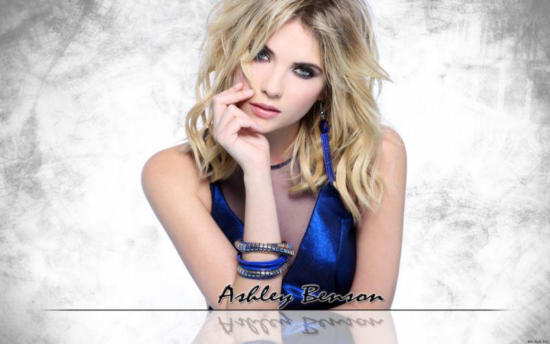 Ashley Benson actress models blondes women females girls sexy babes face eyes f wallpaper