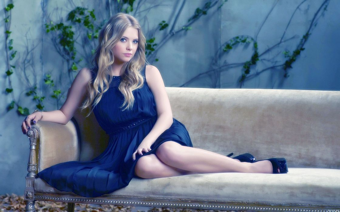 Ashley Benson actress models blondes women females girls sexy babes face eyes legs wallpaper