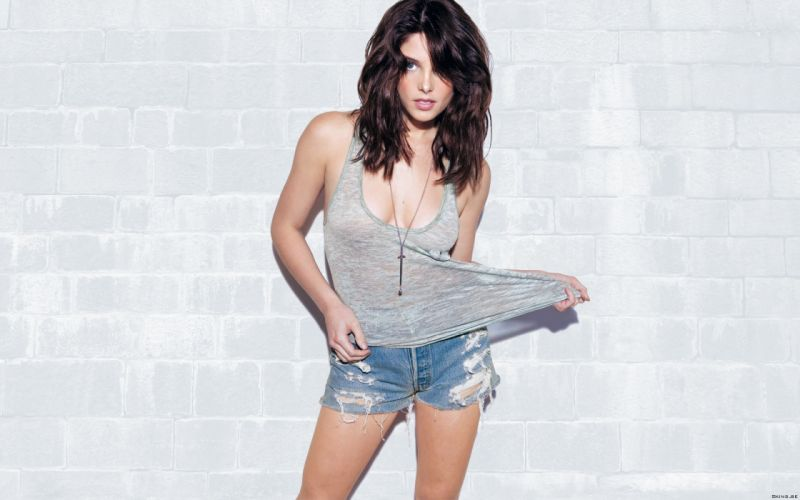 Ashley Greene actress model brunettes women females girls sexy babes cleavage legs face eyes wallpaper