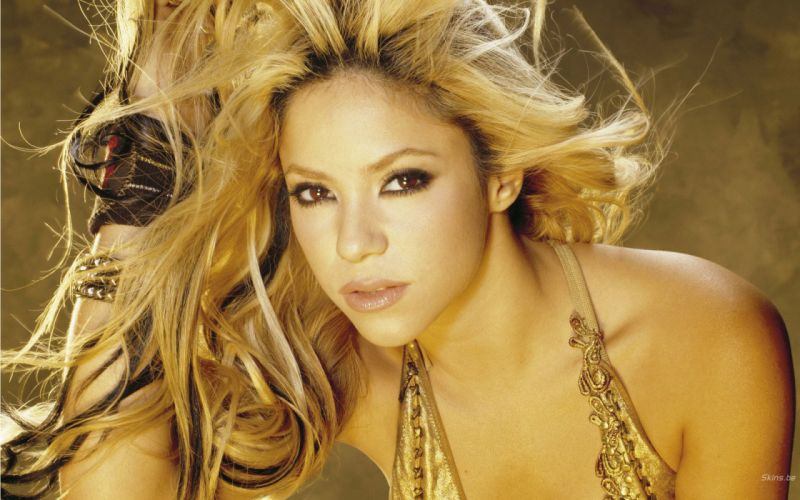 Shakira singer musician blondes women females girls sexy babes face eyes f wallpaper