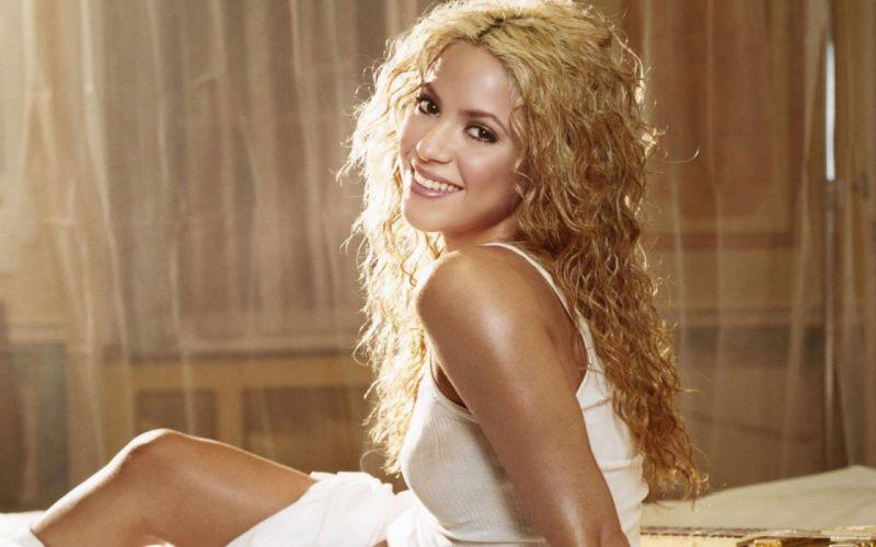 Shakira singer musician blondes women females girls sexy babes face eyes w wallpaper