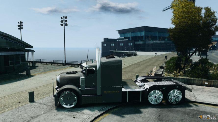semi trucks tractor rigs videogames gta grand theft auto peterbilt wallpaper