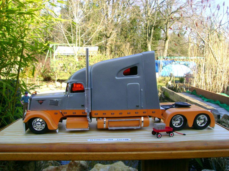 semi trucks tractor rigs peterbilt wallpaper