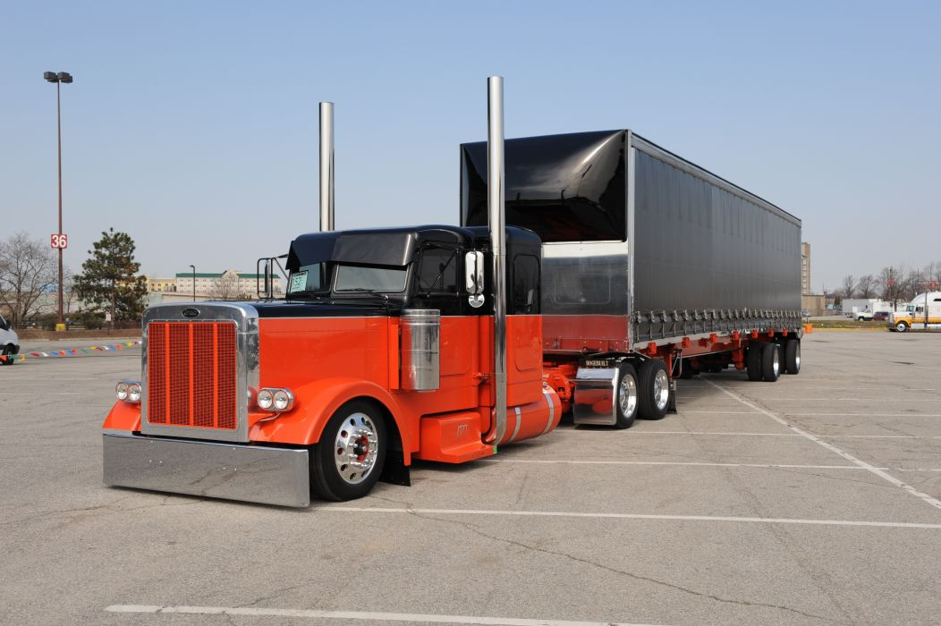 semi trucks tractor rigs peterbilt wallpaper