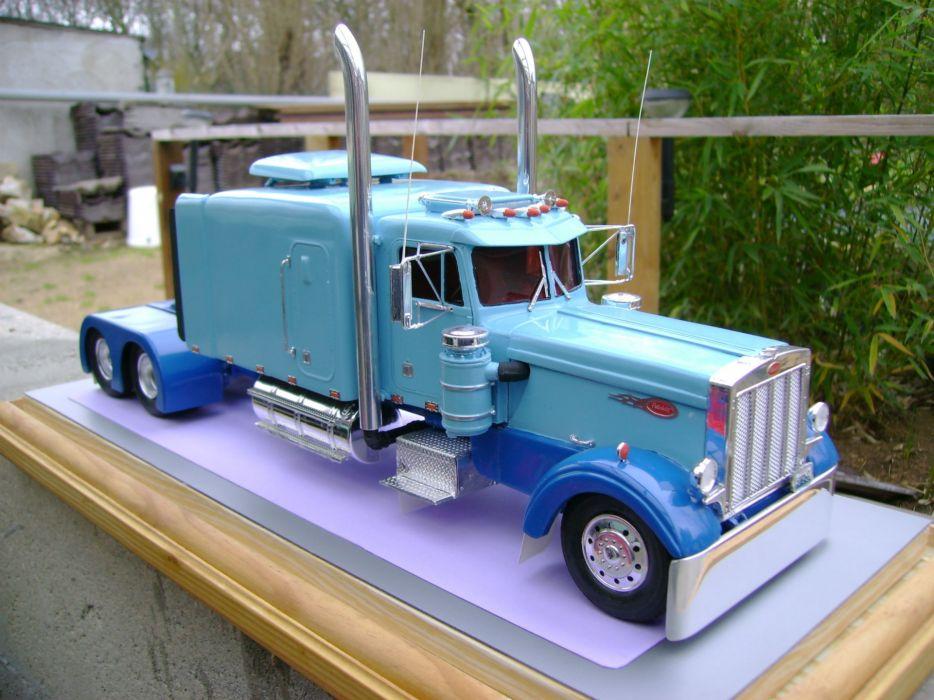 Peterbilt semi trucks tractor rigs wallpaper