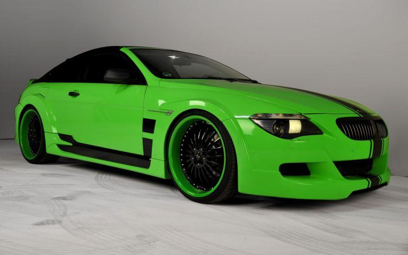 green cars BMW M6 wallpaper