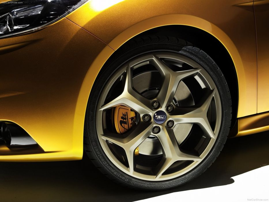 cars gold wheels Ford Focus Ford Focus ST wallpaper