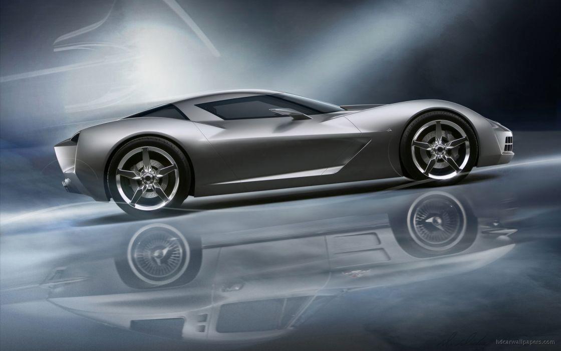 Chevrolet stingray concept art vehicles wallpaper