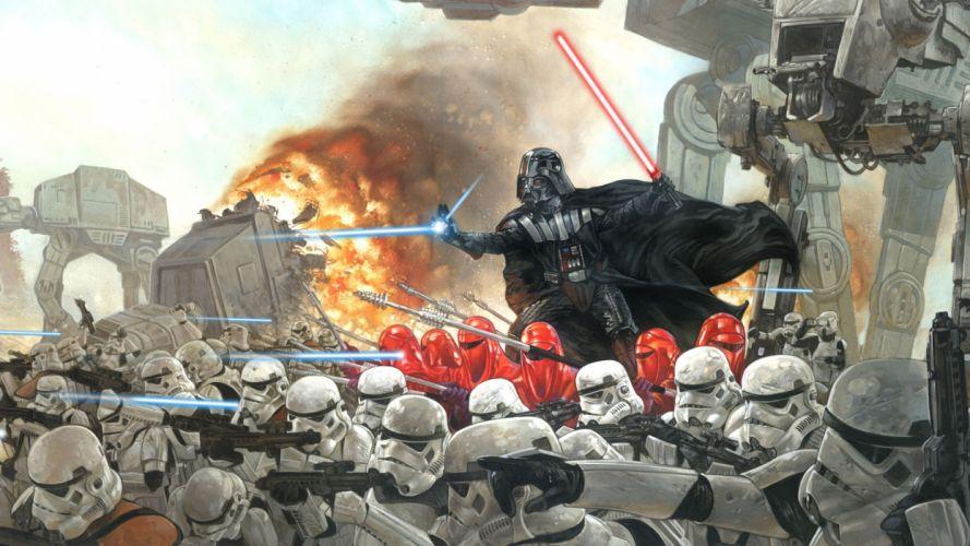 Star Wars stormtroopers Darth Vader dark side wallpaper