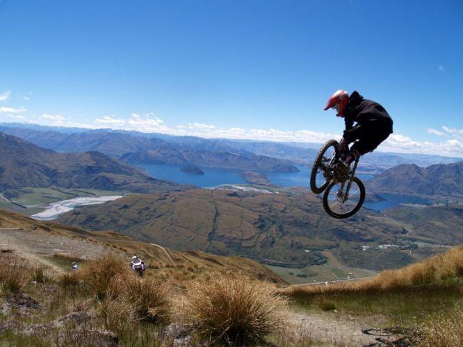 bike freedom bicycles jumping wallpaper