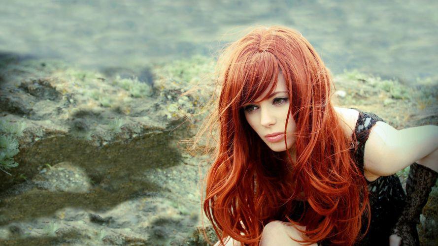 Redhead Woman wallpaper