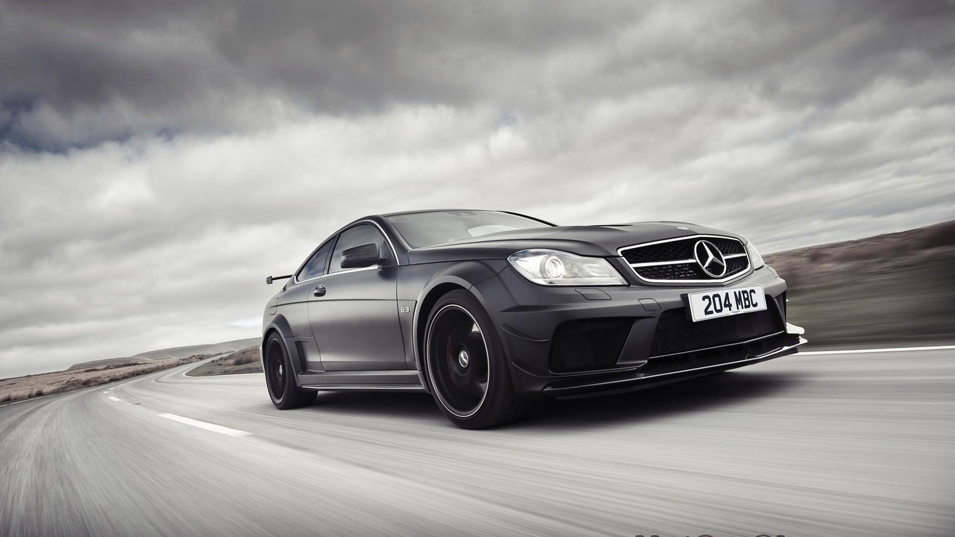 Black Cars Roads Automotive Royal Respect Mercedes Benz