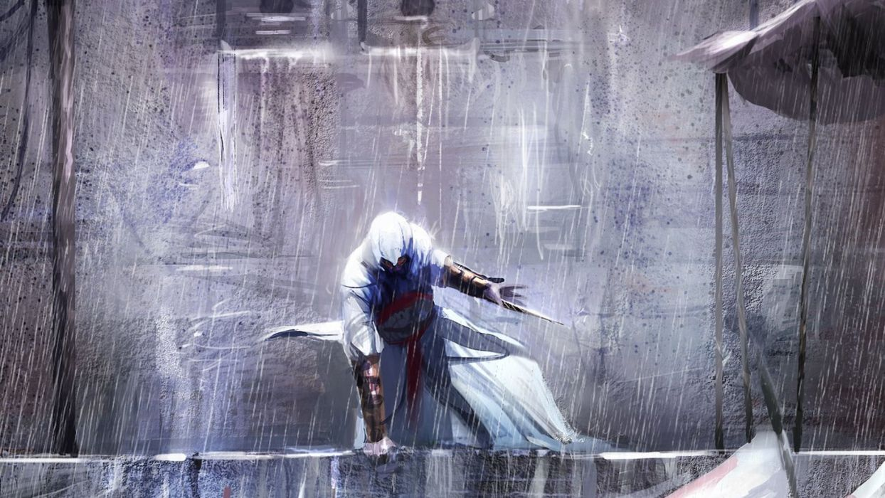 Paintings Assassin Assassins Creed Altair Ibn La Ahad Drawings