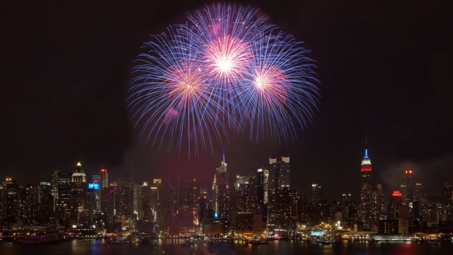 cityscapes fireworks wallpaper