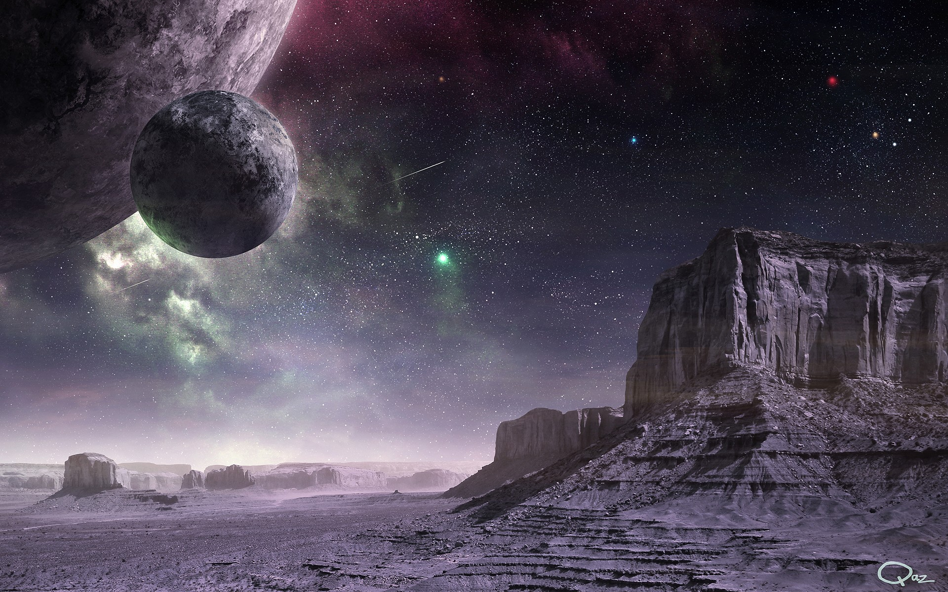 Outer Space Planets Digital Art Science Fiction Wallpaper