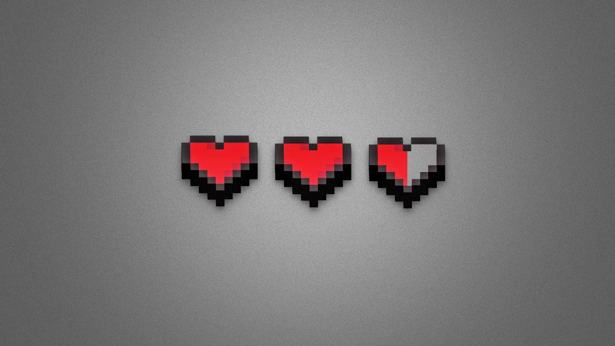 love minimalistic hearts wallpaper