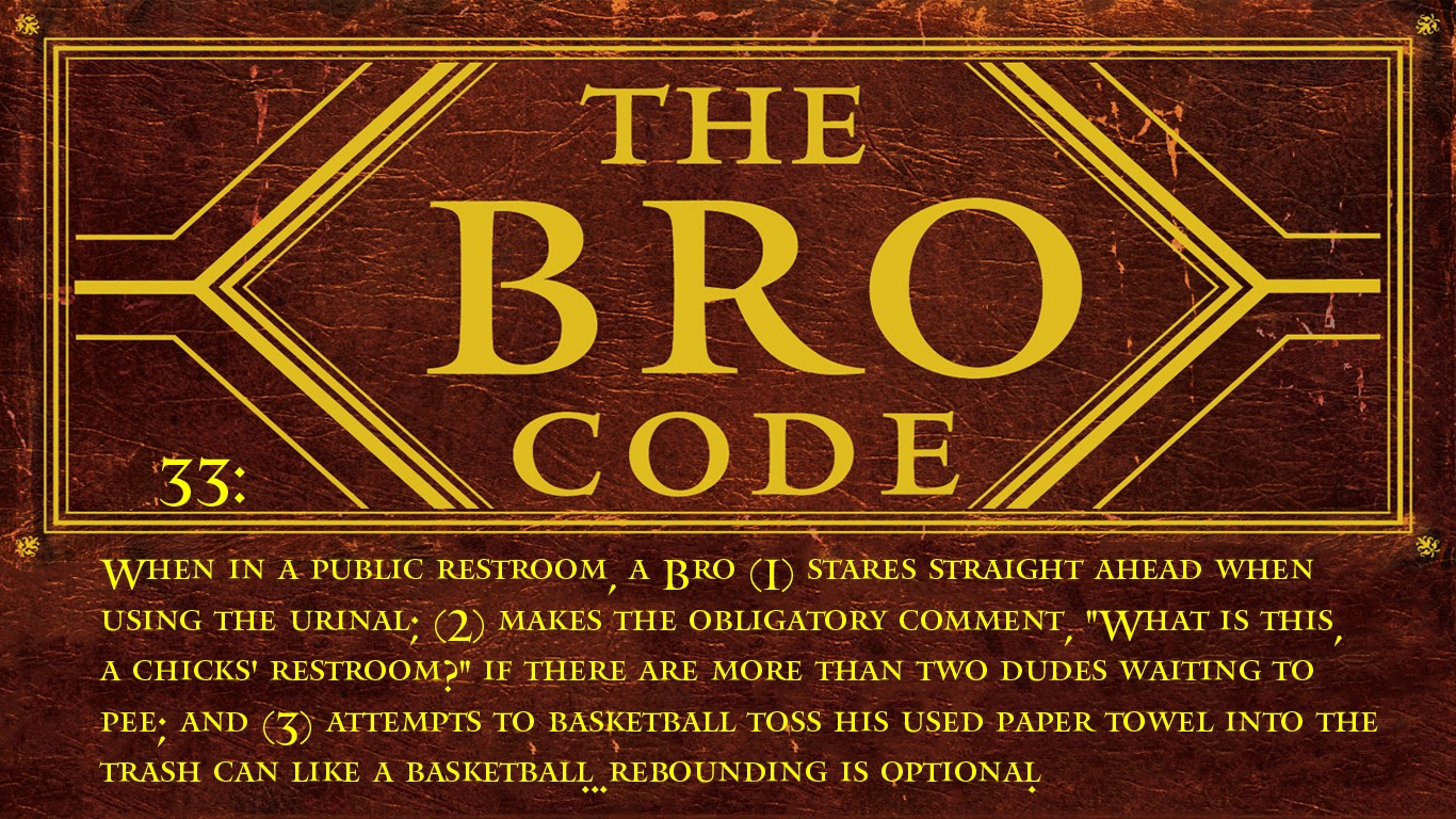 Barney Stinson How I Met Your Mother The Bro Code