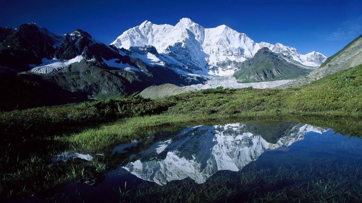 peak glacier Tibet wallpaper
