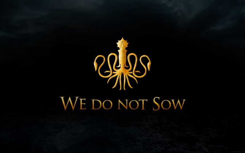 Kraken squid Game of Thrones A Song of Ice and Fire TV series House Greyjoy wallpaper