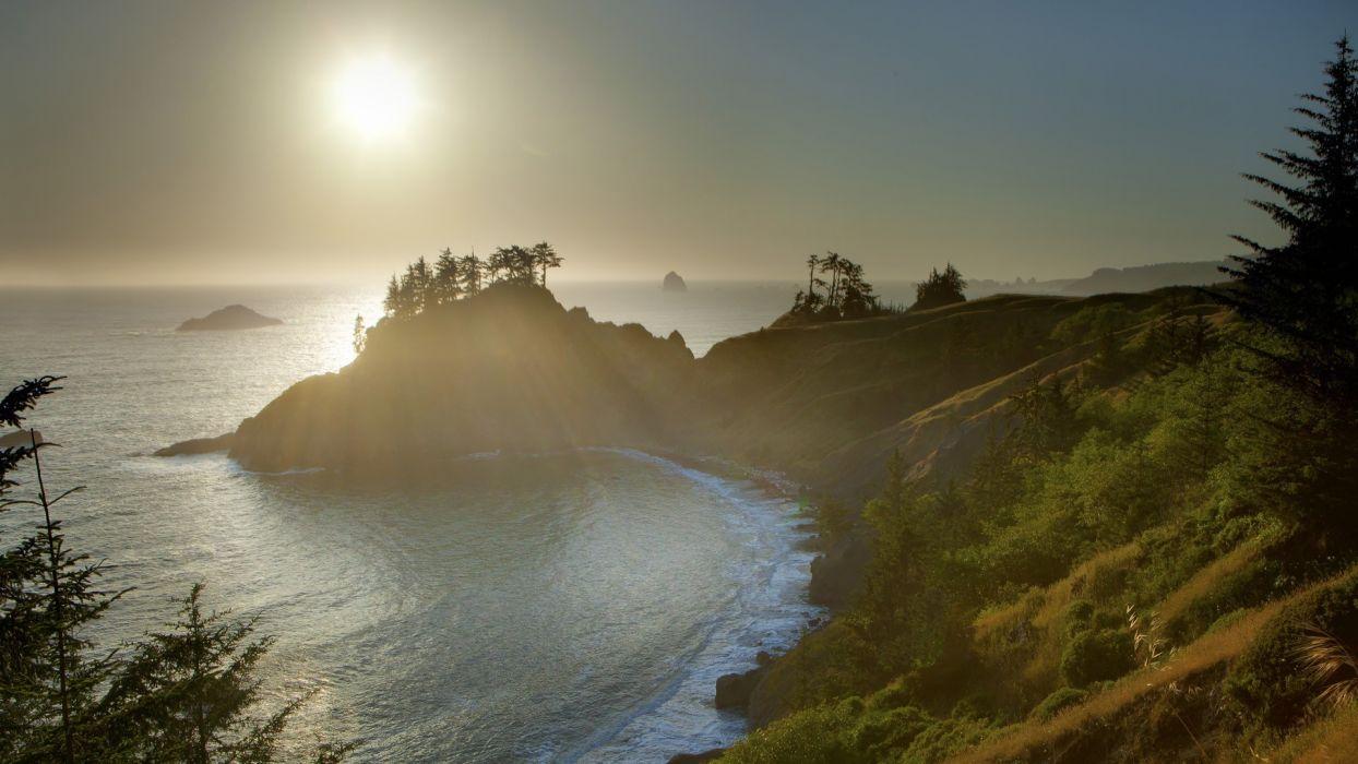sunset coast Oregon wallpaper