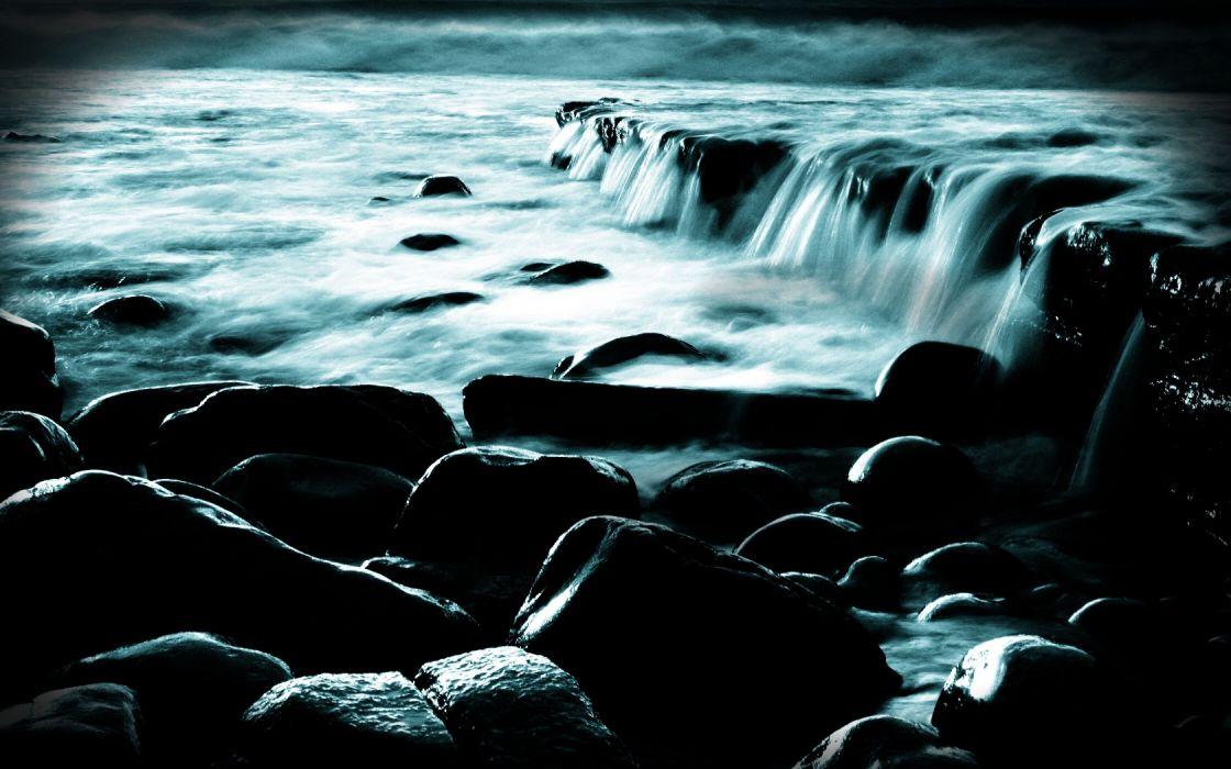 water nature rocks wallpaper