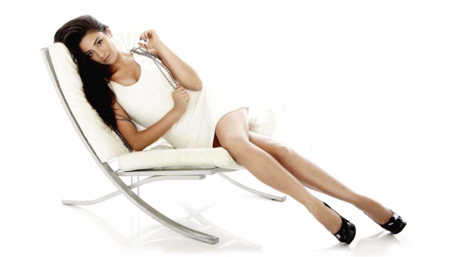 brunettes legs women celebrity Shay Mitchell white background wallpaper