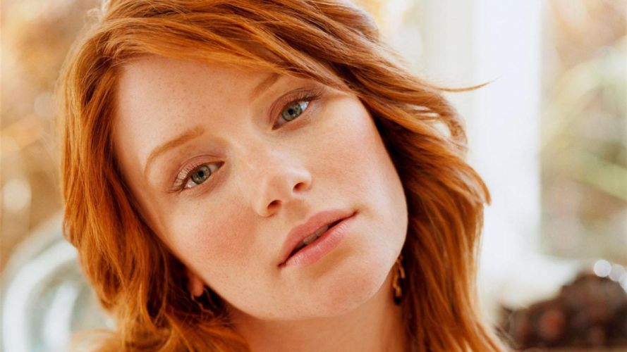 women close-up redheads Bryce Dallas Howard faces wallpaper