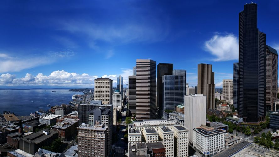 cityscapes grunge Seattle TagNotAllowedTooSubjective cities wallpaper