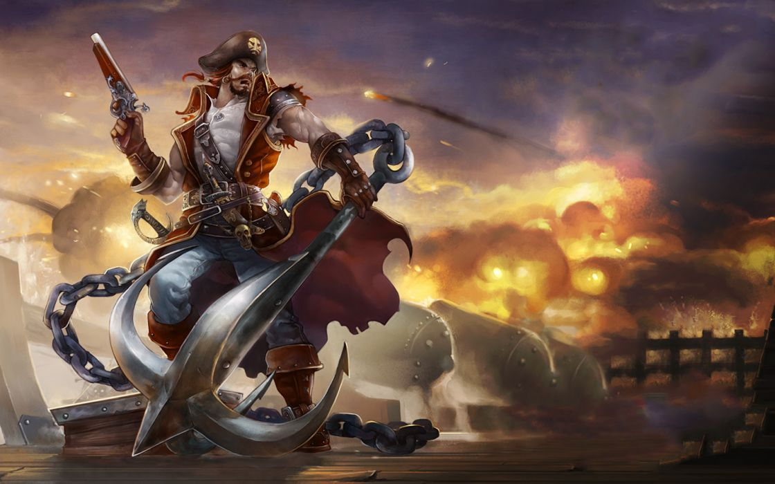 Video games pirates League of Legends Gangplank wallpaper