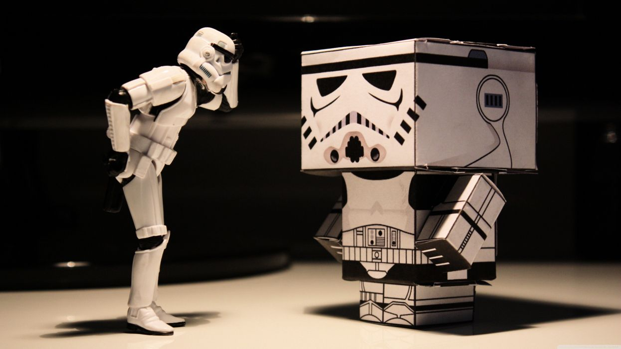 abstract stormtroopers funny papercraft wallpaper