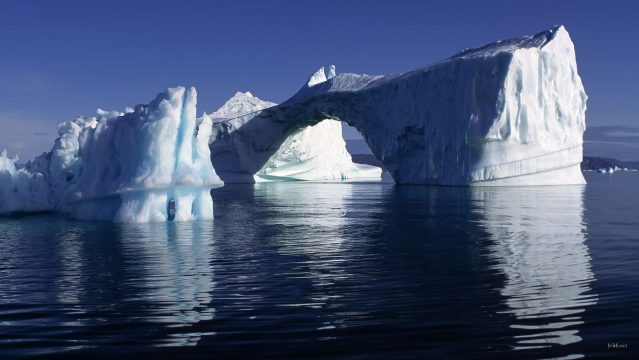 icebergs wallpaper