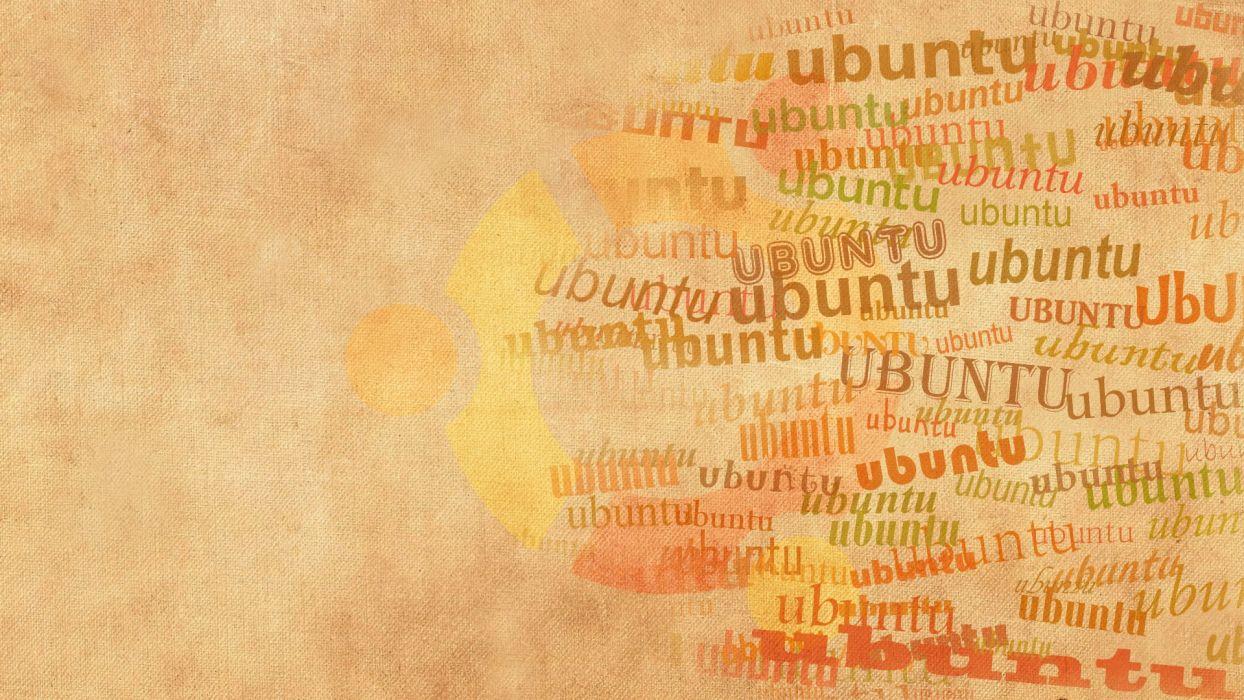 orange Linux Ubuntu digital art artwork operational sistem wallpaper