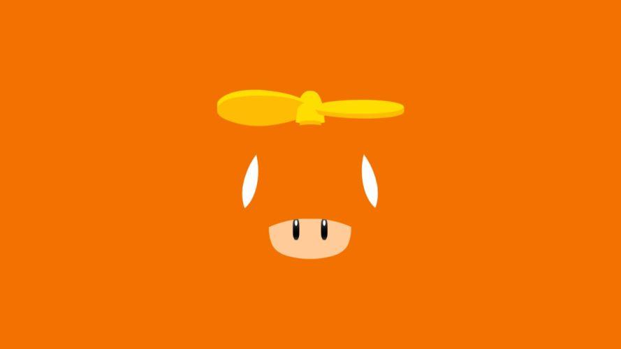 abstract video games Mario orange background propeller wallpaper