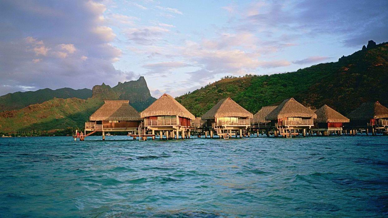 islands French Polynesia Moorea wallpaper
