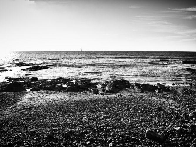 beach stones sea wallpaper