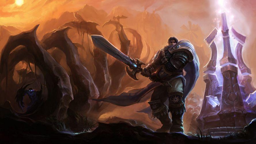 League of Legends fantasy art Nocturne Garen wallpaper