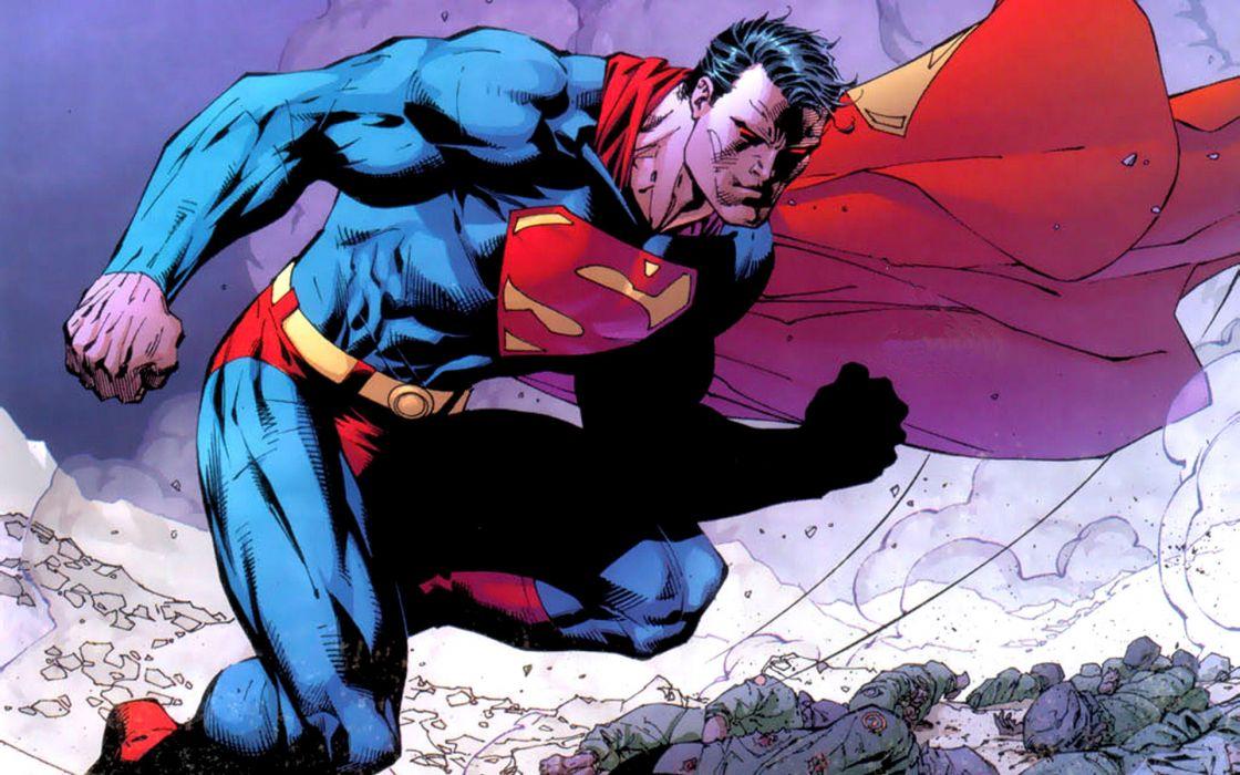 DC Comics Superman superheroes Jim Lee wallpaper