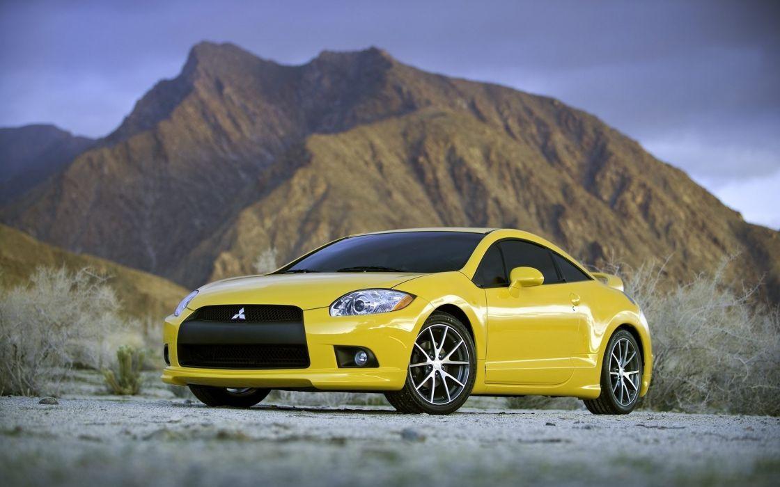 cars Mitsubishi vehicles yellow cars wallpaper