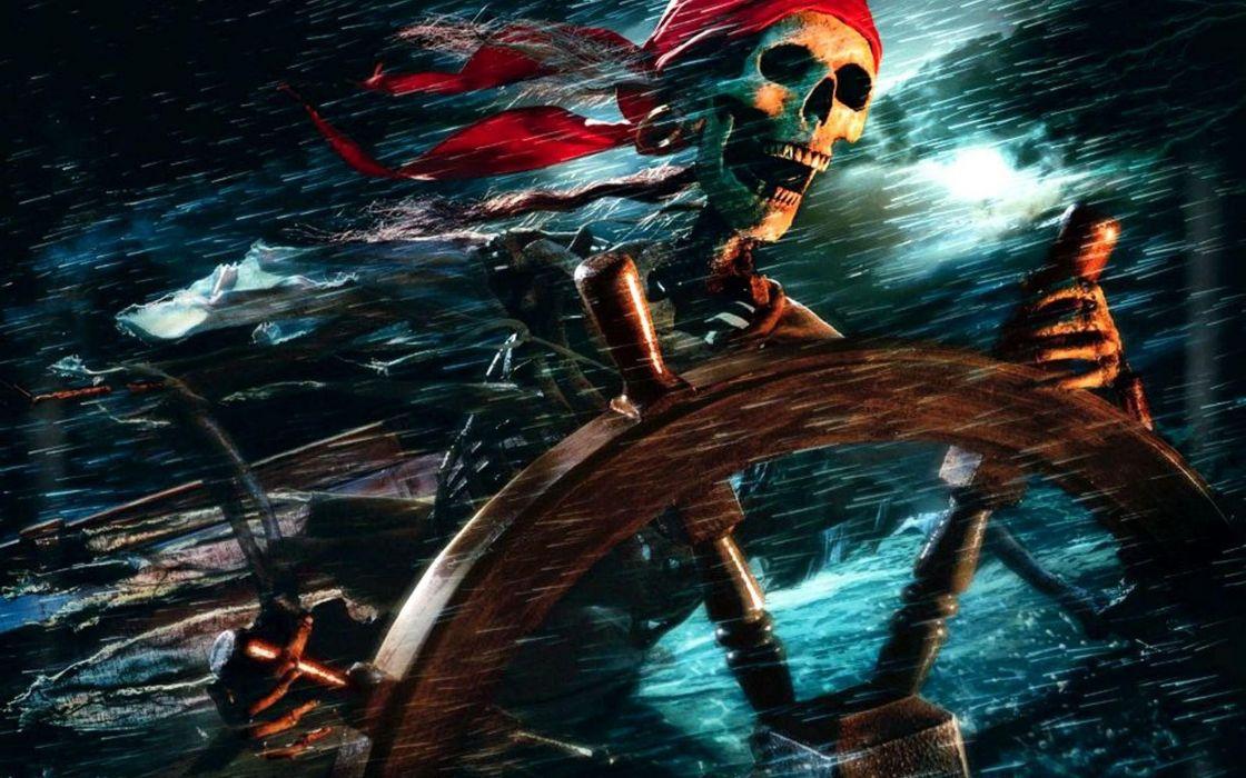 American fantasy ships Pirates of the Caribbean Alestorm black pearl skull and bones adventure film wallpaper